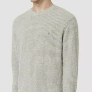 ALL SAINTS Lymore Knit Crewneck Dark Gray Size S